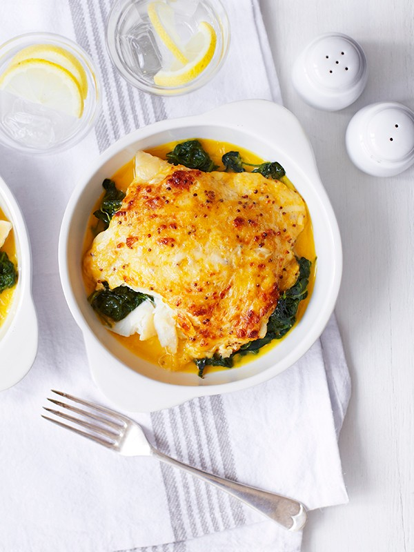 Smoked Haddock Rarebit Recipe with Spinach