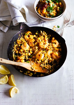 Moroccan Prawn Rice Recipe