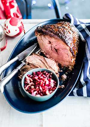 Christmas Ham Recipe with Pomegranate Dressing