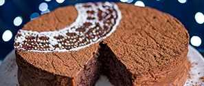 Rum-Raisin Chocolate Torte Recipe with Brown Sugar Crème Fraîche