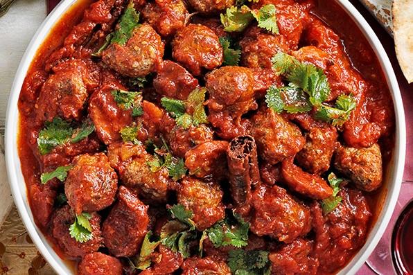 Moroccan kofte and chorizo stew