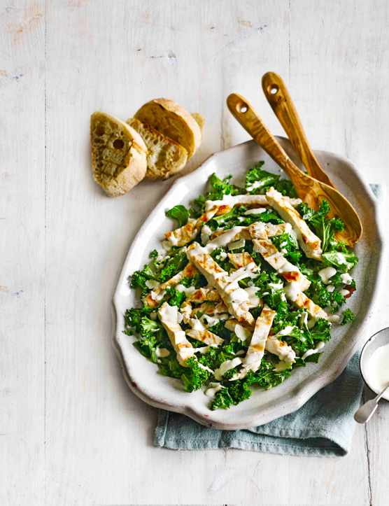 Kale Chicken Caesar Salad Recipe