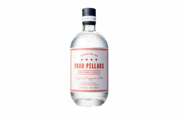 Bottle Of Four Pillars Gin Spiced Negroni Gin