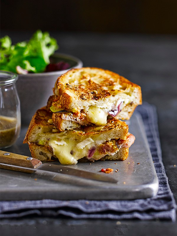 Posh Cheese, Fig and Bacon Toastie Recipe
