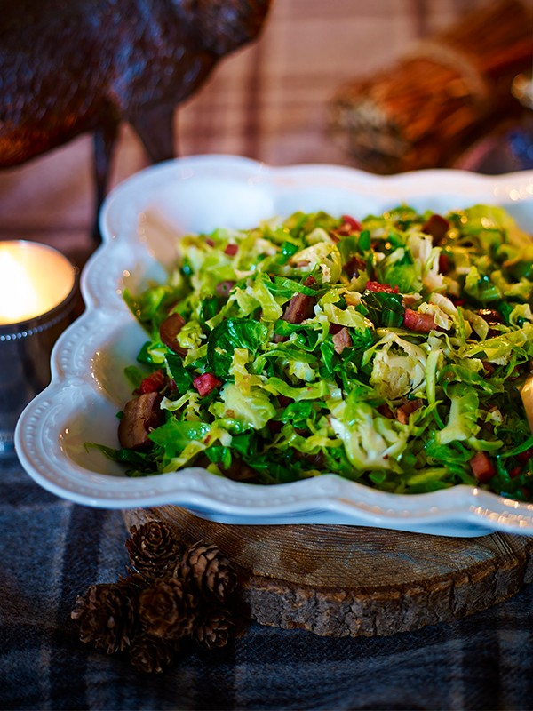 Greens With Shallot, Pancetta And Chestnut Butter Recipe