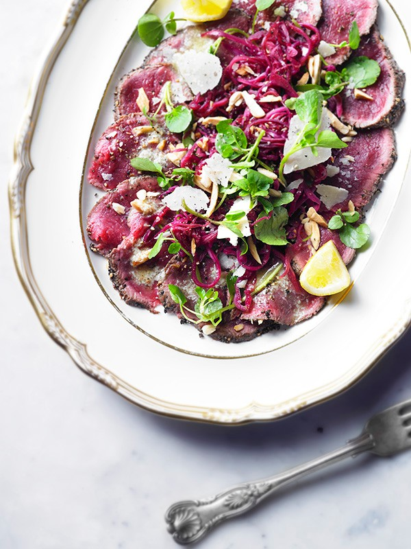 Venison Carpaccio Recipe With Pickled Red Cabbage
