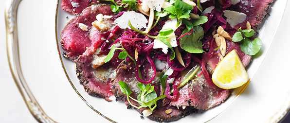 Venison Carpaccio Recipe With Pickled Red Cabbage