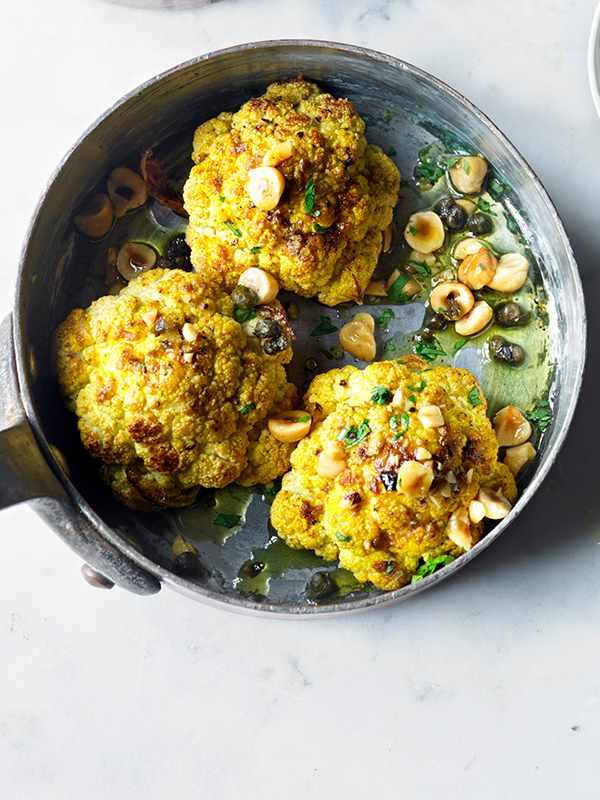 Baked Cauliflower Recipe with Raita