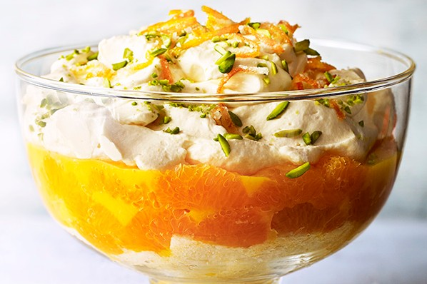 Trifle Recipe with Clementines and Prosecco
