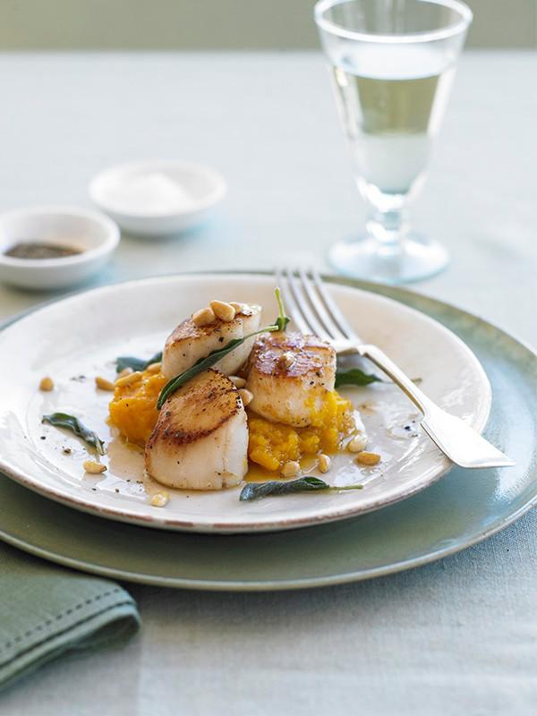 Scallops Recipe with Butternut Squash Purée