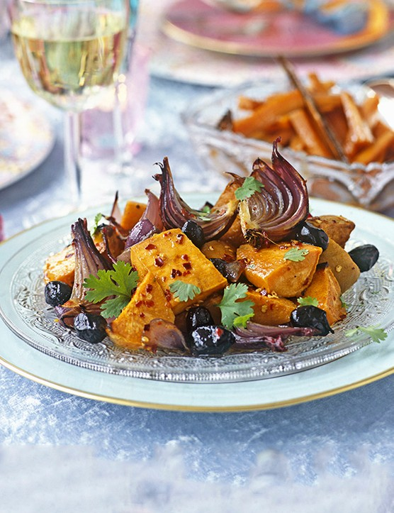 Honey-Roasted Sweet Potato Recipe With Red Onions