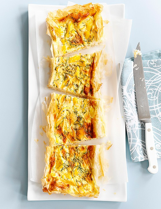 Smoked Haddock Tart Recipe with Dill