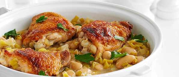 Chicken and Leek Casserole Recipe with Dijon Mustard