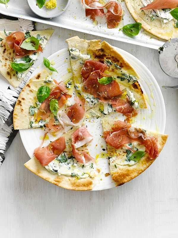 Flatbread Pizzas Recipe with Ham