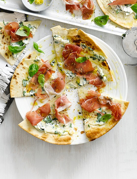 Flatbread Pizzas Recipe with Ham