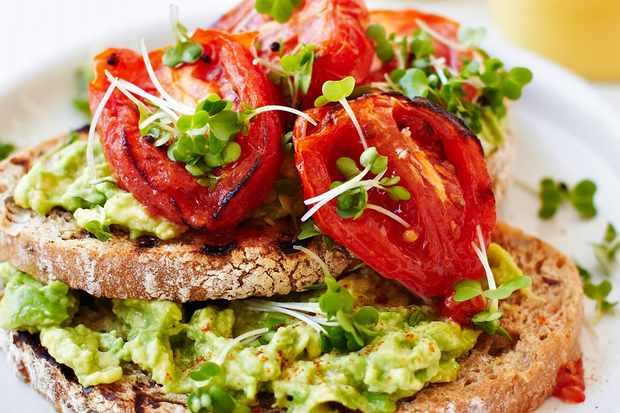 Avocado Toast Recipe with Roasted Tomatoes