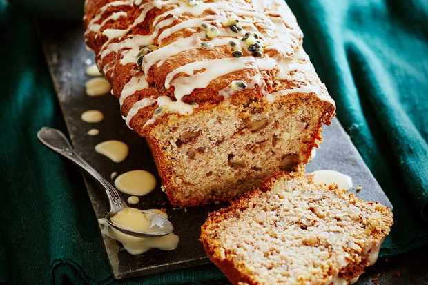 banana and passionfruit loaf