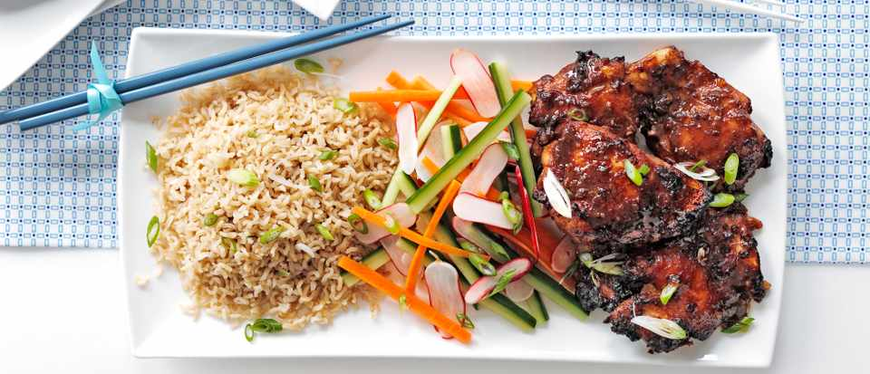 Miso Chicken Recipe with Sweet and Sour Salad