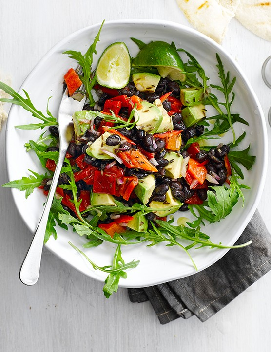 Tex-Mex black bean and avocado salad recipe