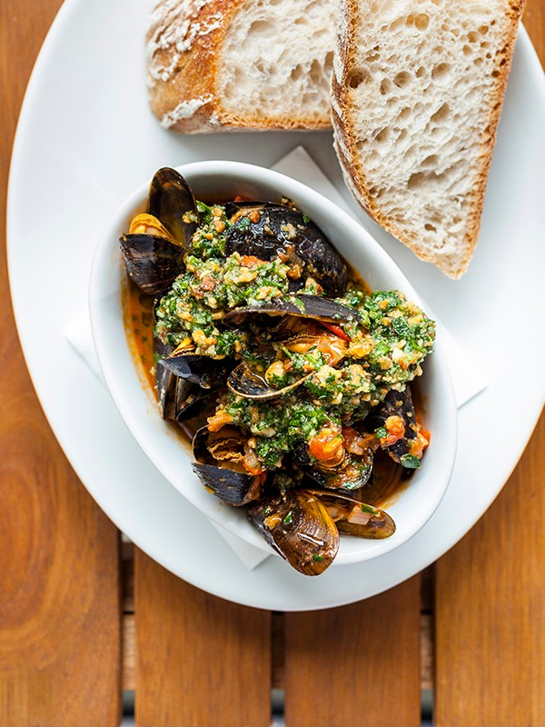 Spanish Mussels Recipe with Almond Picada