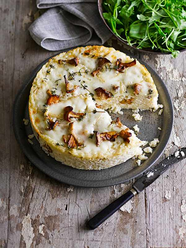Risotto Cake Recipe With Mushrooms