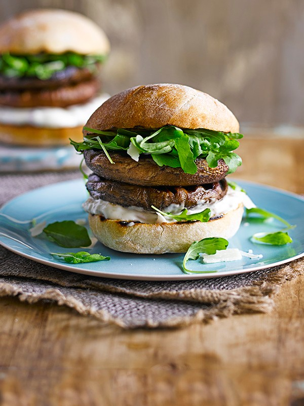 Veggie Burger Recipe For Truffled Mushroom Burgers