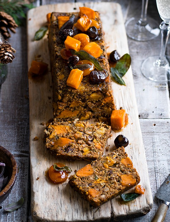 Vegetarian Loaf Recipe With Chestnut and Sweet Potato