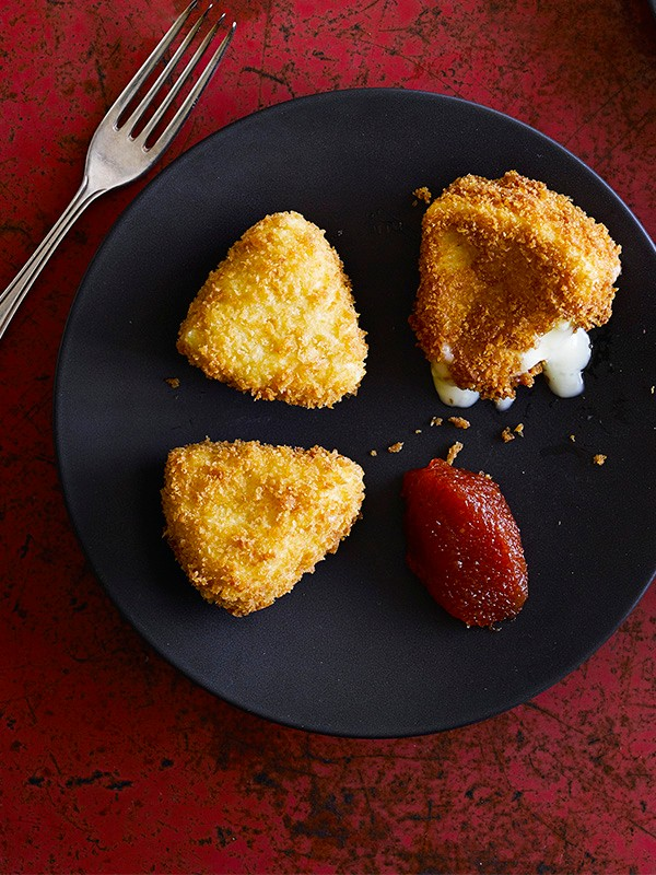 Deep fried camembert with membrillo