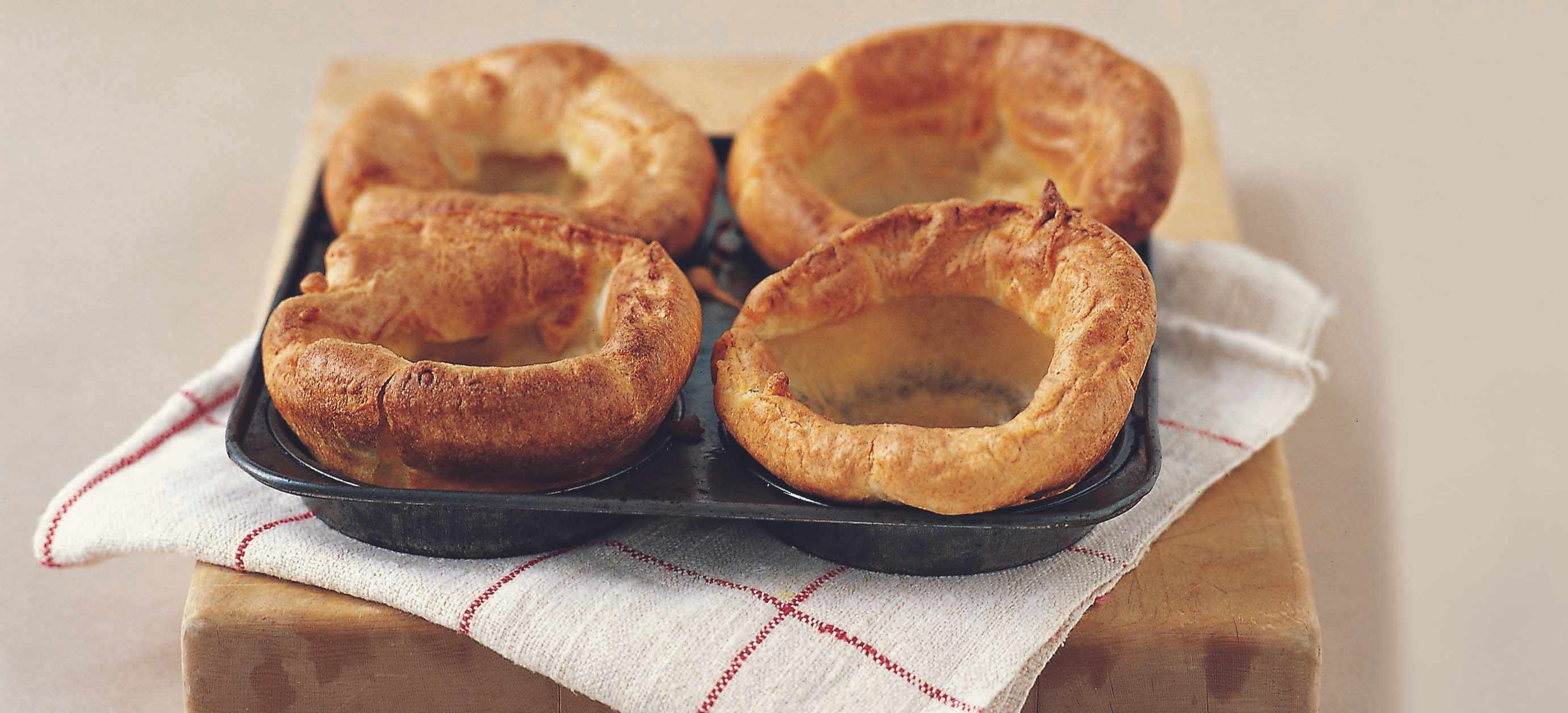 fluffy individual Yorkshire puddings