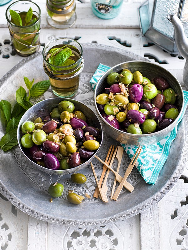 Warm olives with pickled lemon and fennel