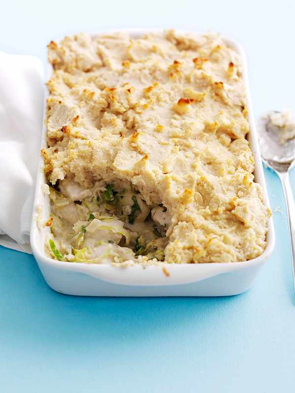Chicken And Shredded Sprouts Pie With Butterbean Mash Recipe