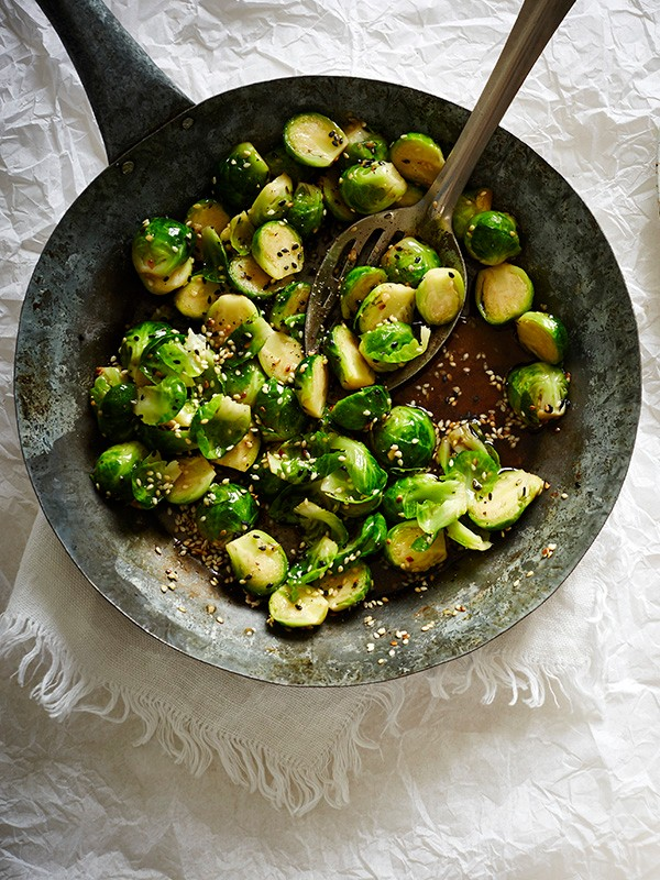 Brussels Sprouts Recipe with Sesame
