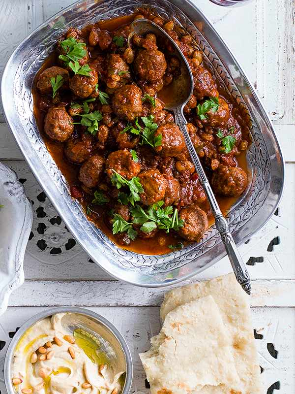 Smoked Lamb Meatballs Recipe With Harissa Sauce