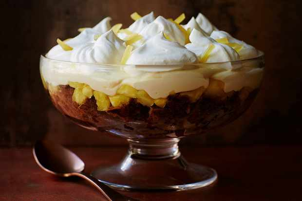 gingercake trifle