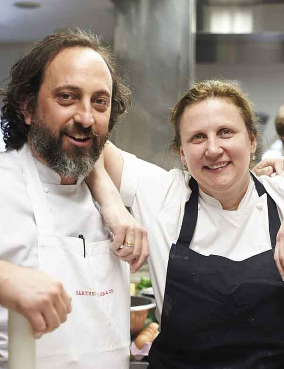 Angela Hartnett and Luke Holder