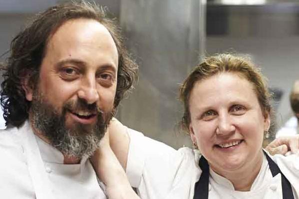 Angela Hartnett and Luke Holder