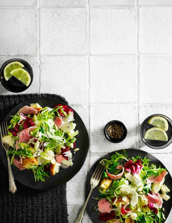 Ham, Pickled Pear And Blue Cheese Salad Recipe