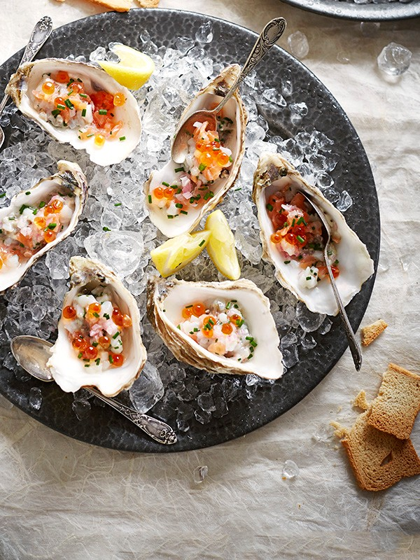 Oyster Tartare and Scallop Recipe