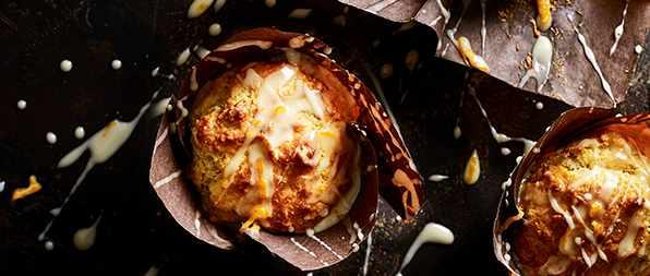 (Orange Muffins Recipe) Tangerine and Marzipan Muffins
