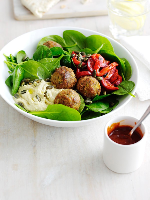 Falafel Mezze Bowl Recipe