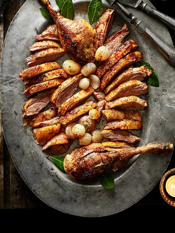 Roast Goose With Madeira Gravy Recipe