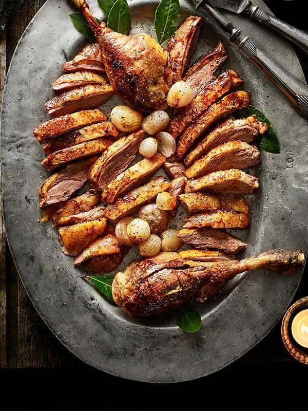 Roast Goose With Madeira Gravy Recipe