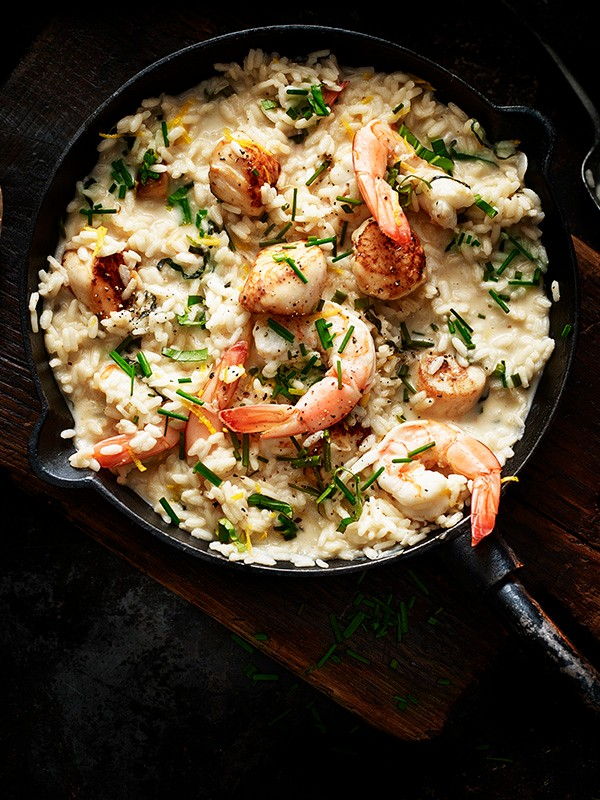 Prawn Risotto Recipe with Scallops