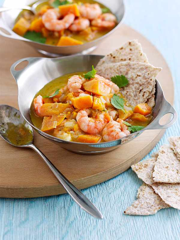 Jamaican Curry Recipe With Prawns and Sweet Potato