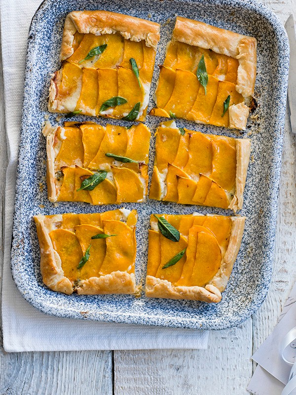 Roasted Butternut Squash and Sage Galette