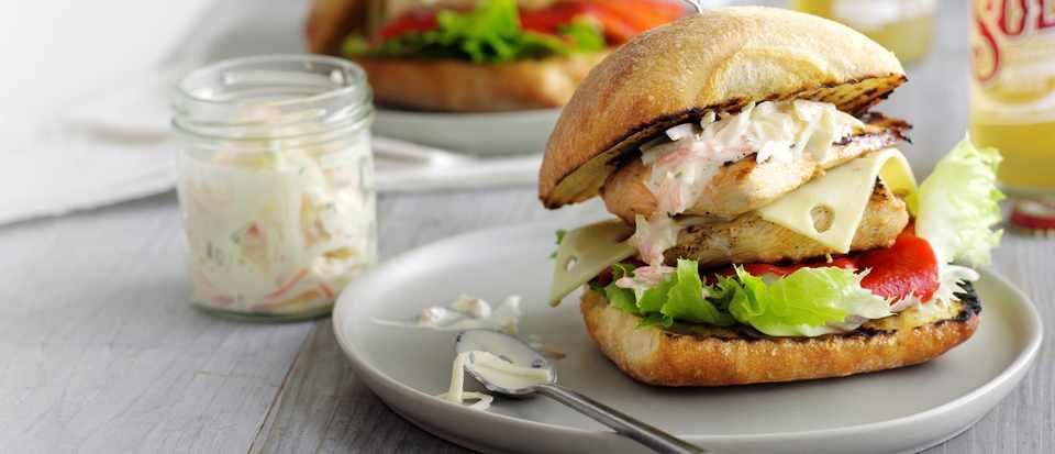 Churrasco chicken burgers