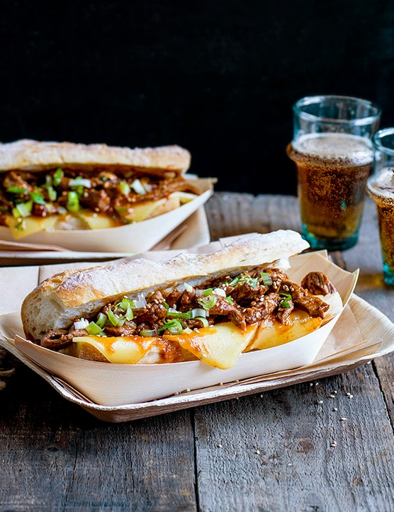 Bulgogi cheese steak sandwich