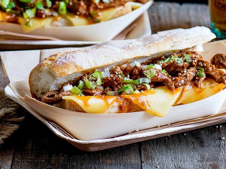 Bulgogi cheese steak sandwich - olivemagazine