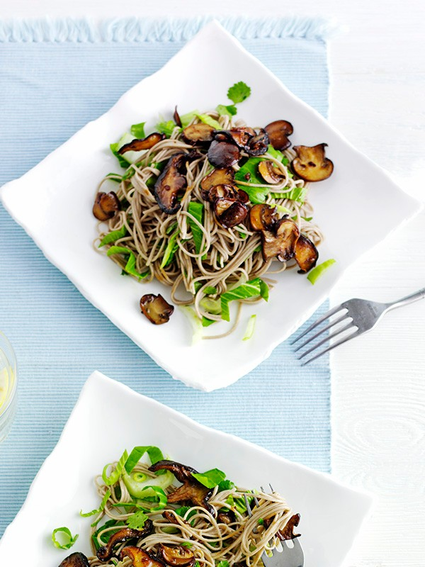 Soba Noodle Recipe with Teriyaki Mushrooms