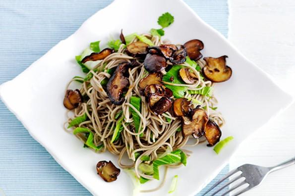 Soba Noodle Recipe with Teriyaki Mushrooms